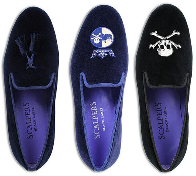 Tres modelos de slippers, lisos y con bordados, diseñados por Scalpers. Foto: Scalpers