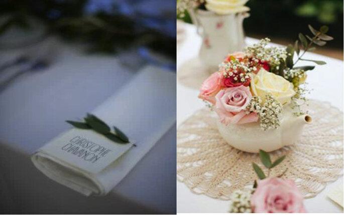 Escort cards et art floral - Décoration mariage Paris