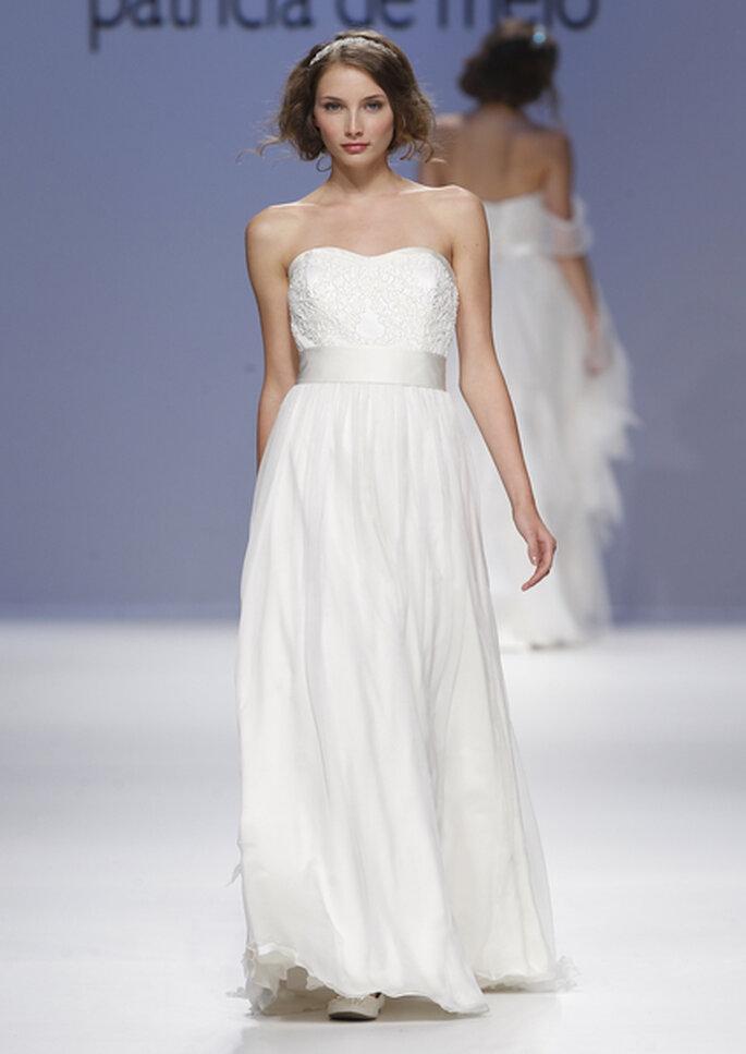 Robe de mariée avec ceinture blanche, Joana Montez et  Patricia de Melo 2013