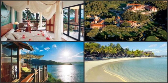 Verschiedene Ziele: Spa Resorts, Golf Resorts, Strände, etc.