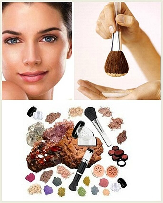 Es la más reciente tecnología en maquillajes, no llevan químicos en su preparación