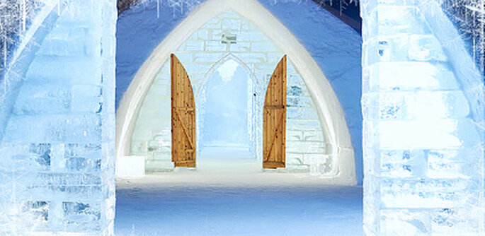 Casamento no gelo - Hotel de Glace no Canadá