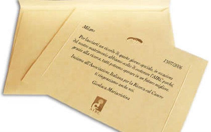 Pergamene solidali AIRC