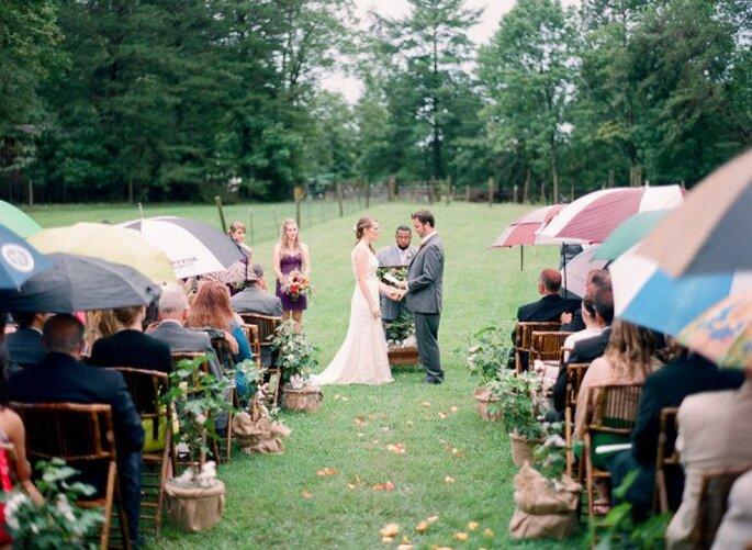 Qué hacer si llueve en mi boda - Foto Julie Massie