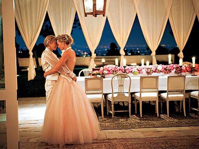 Ellen De Generes und Portia de Rossi haben sich getraut – Foto: Ellen De Generes and Portia de Rossi via facebook