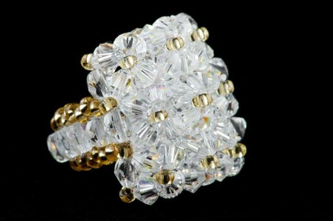 Bagues en perles de Swarovski par Poésie des Perles