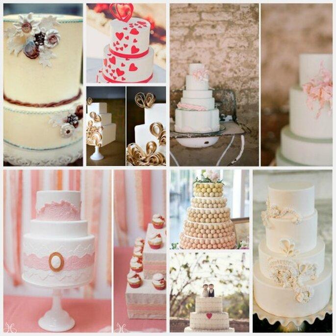 Las mejores y más románticas tortas de bodas