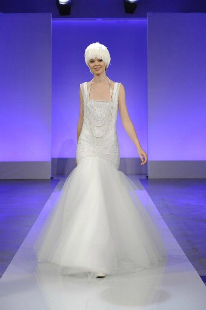 Robe de mariée Cymbeline 2013 La Parisienne, modèle Garçonne - Photo : Cymbeline