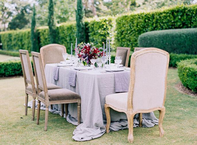 mesas para boda 2016 - Sally Pinera