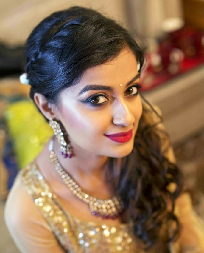 Photo: Hair and Makeup by Shwetha Raju.