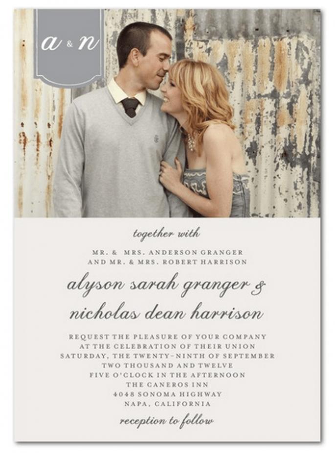 Utiliza una foto como portada para tus invitaciones - Foto Wedding Paper Divas
