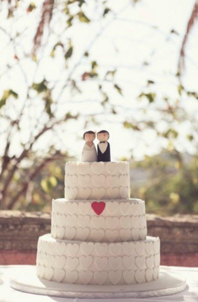 Tortas de boda románticas - Fotos: Green Wedding Shoes