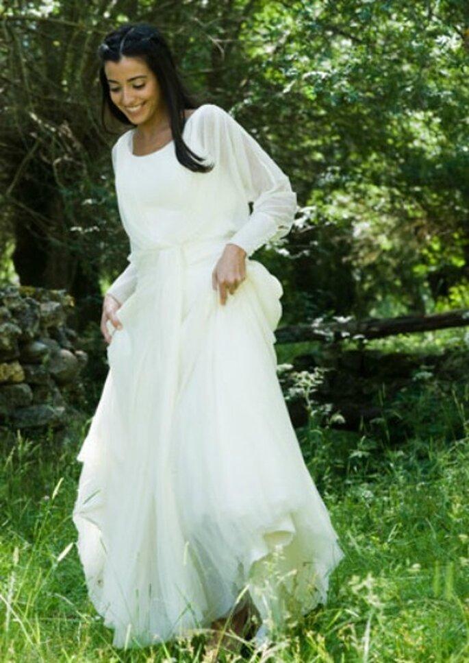 Novia con vestido de Teresa Palezuelo- Foto: Teresa Palezuelo
