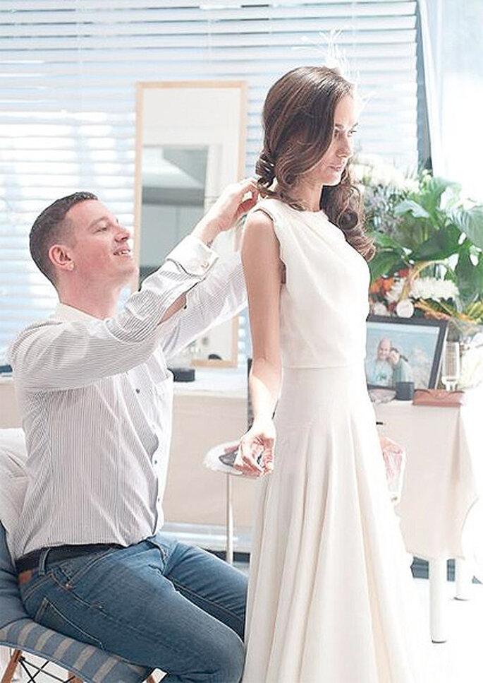 Los trajes de novia a medida se elaboran primero sobre una 'toile' antes de pasar al modelo real. Foto: Nicholas & Atienza