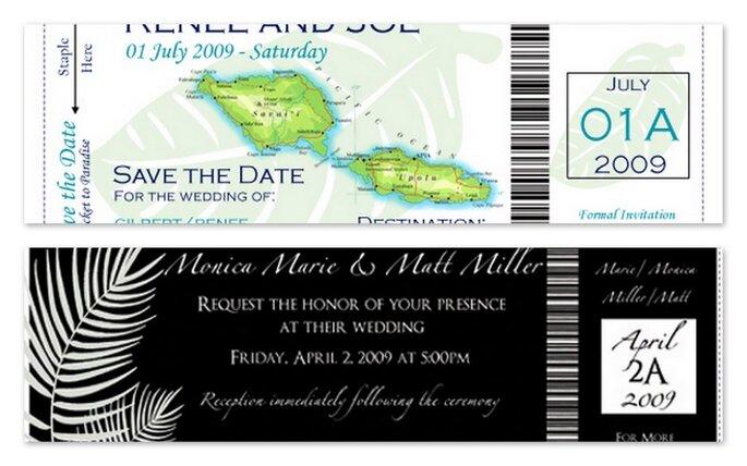Due inviti Boarding pass