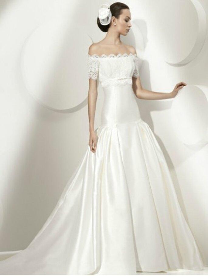 Vestido de novia 2012. Corte Sirena de escote barco. By Franc Sarabia