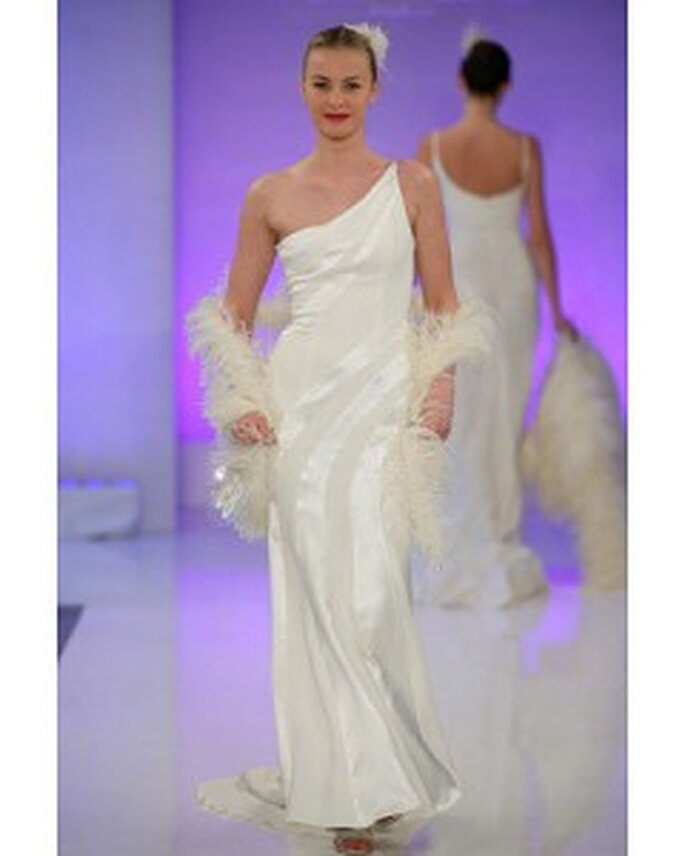 One-shoulder wedding dress from Cymbeline's spring 2010 collection