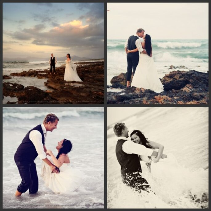 Junges Eheglück am Strand beim After Wedding Shooting - Fotos: Simone Hertel