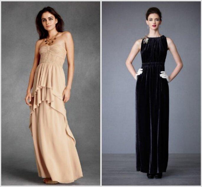 2 estilos de vestido largo, para el día y la noche. Fotos: Bhldn