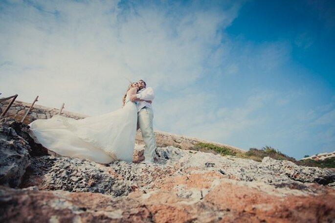 Hochzeit auf Mallorca. Kulisse Felsen. Foto: Nadia Meli.