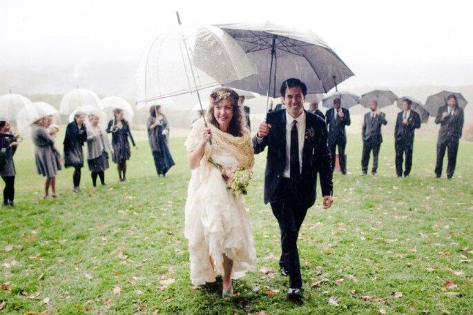 Qué hacer si llueve en mi boda - Foto Joey Kennedy Photography