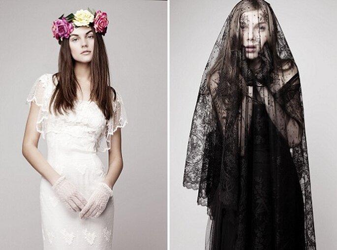 La novia Otaduy se atreve también con el negro. Foto: Otaduy.