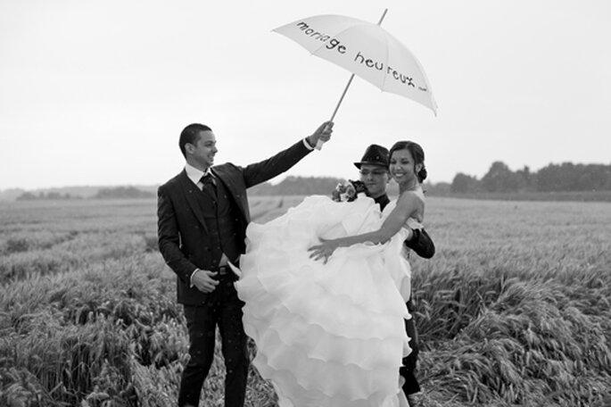Photos de mariage sous la pluie - Photo : Sébastien Letourneur