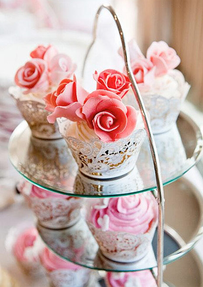 Cupcakes con forma de rosa, de Charo Chic Cakes