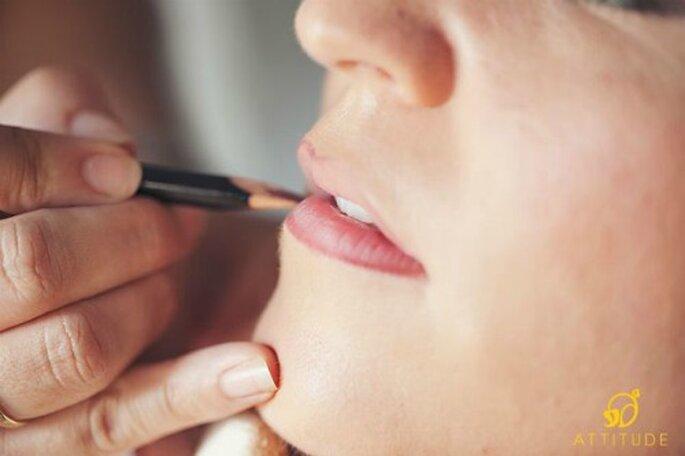 Maquillage de la mariée : on s'adapte à sa morphologie - Crédit photo : Fran Cabades Attitude