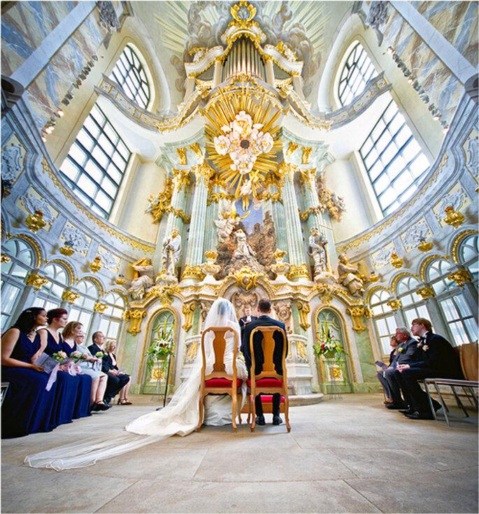 Trauung von Susan und Josh in der Dresdner Frauenkirche - Foto: Torsten Hufsky.
