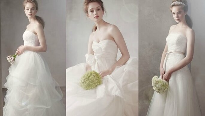 Robes de mariée White by Vera Wang. Photos: www.davidsbridal.com