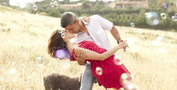 Miguel, Erika y su perrita Nika - Fotógrafo: EvenPic
