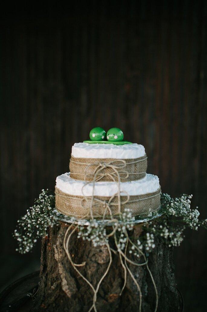 Los mejores pasteles de boda con estilo rústico - Foto Joe and Kathrina