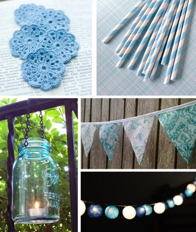 Decoración de boda en color azul claro - Foto SvetlanaN, sweetestelle, MidwestFinds, BooBahBlue, cottonlight Etsy