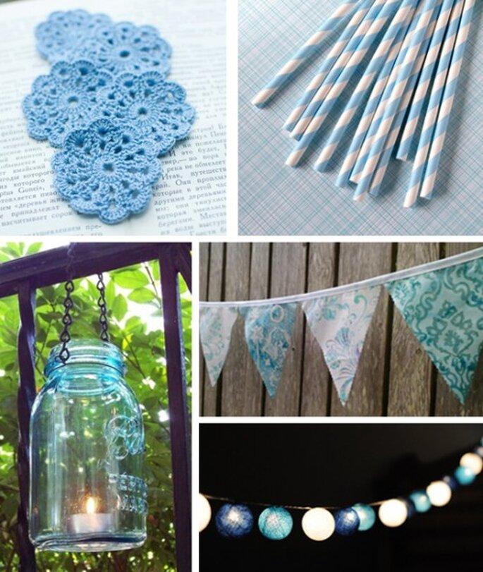 Decoración de boda en color azul claro - Foto SvetlanaN, sweetestelle, MidwestFinds, BooBahBlue, cottonlight Etsy