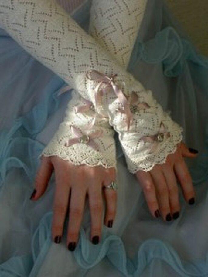 Guanti da sposa a infradito