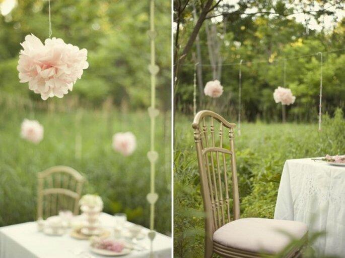 Decoración suspendida para tu boda - Foto Stephanie A Smith Photography