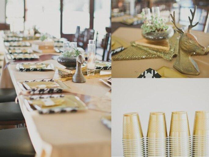 Tendencias en decoración de boda 2013. Por Jesi Haack Fotografía Aaron Young en Ruffled