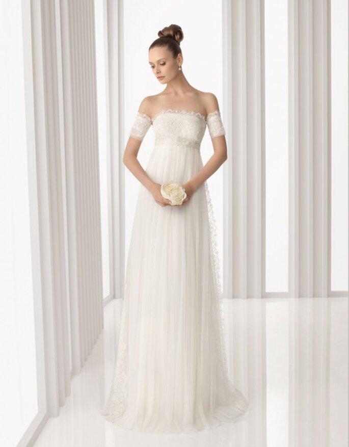 Vestido de novia corte imperio. Rosa Clará 2012