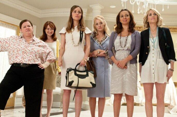 15 mentiras que nos cuentan las películas sobre las bodas - Bridesmaids