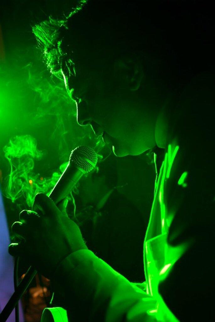 Sergio Sanz cantó durante la fiesta- Foto: Adrián Tomadín