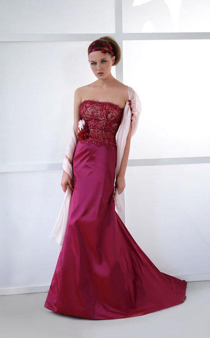 Vestido de novia rojo de la coleccion Vinni de Dalin