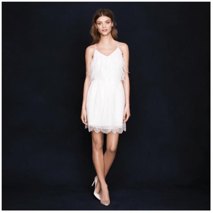 Vestidos de novia cortos que nos fascinan - Foto JCrew