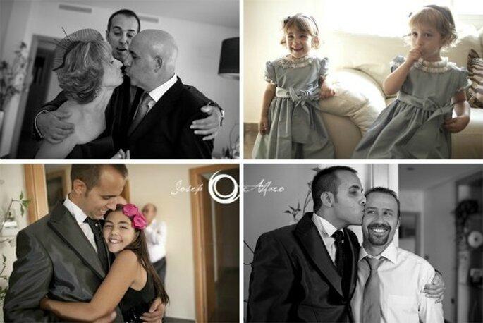 Ein Tag im Kreise der Liebsten: Ihre Hochzeit. Foto: Josep Alfaro.