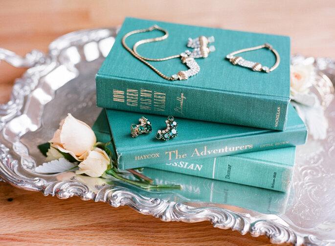 Color esmeralda para la decoración de boda - Hudson Nichols Photography