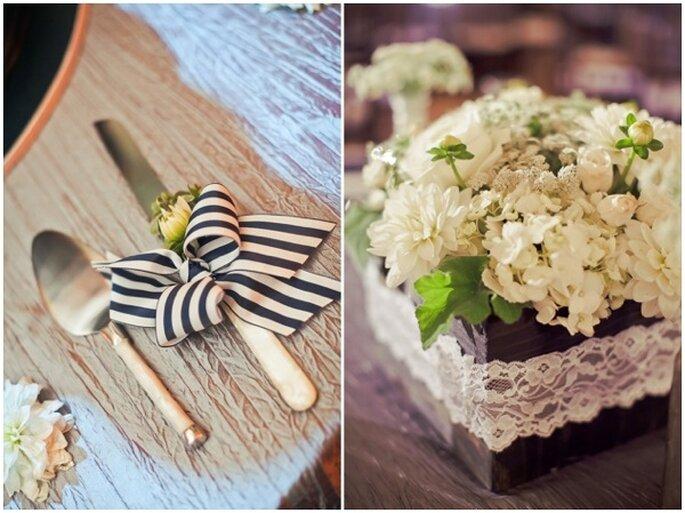 Una decoración con rayas en tu boda - Foto Orange Turtle Photography