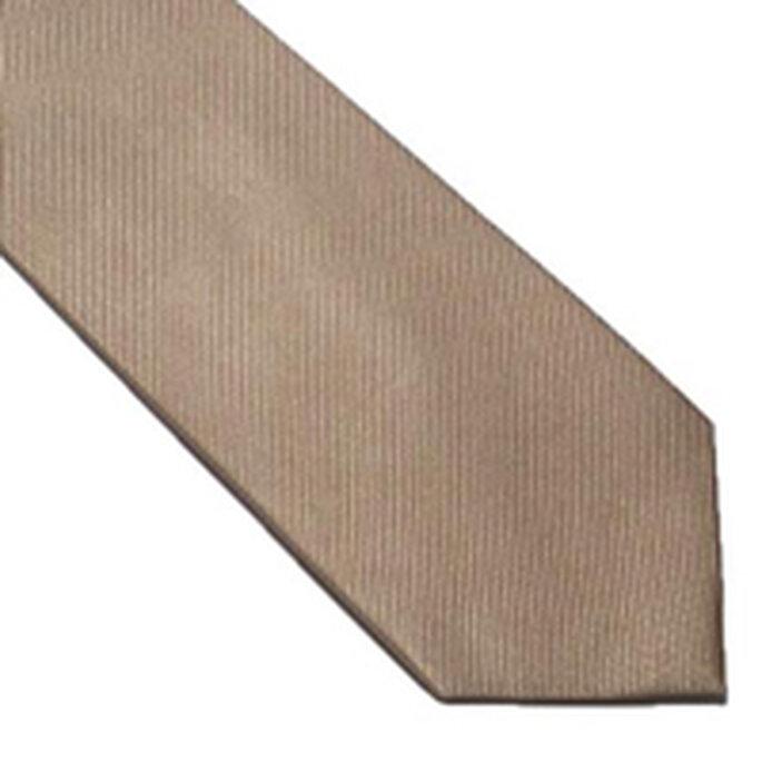 Cravate unie en soie beige