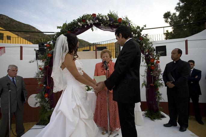 Una cerimonia di nozze celebrata da un pastore protestante