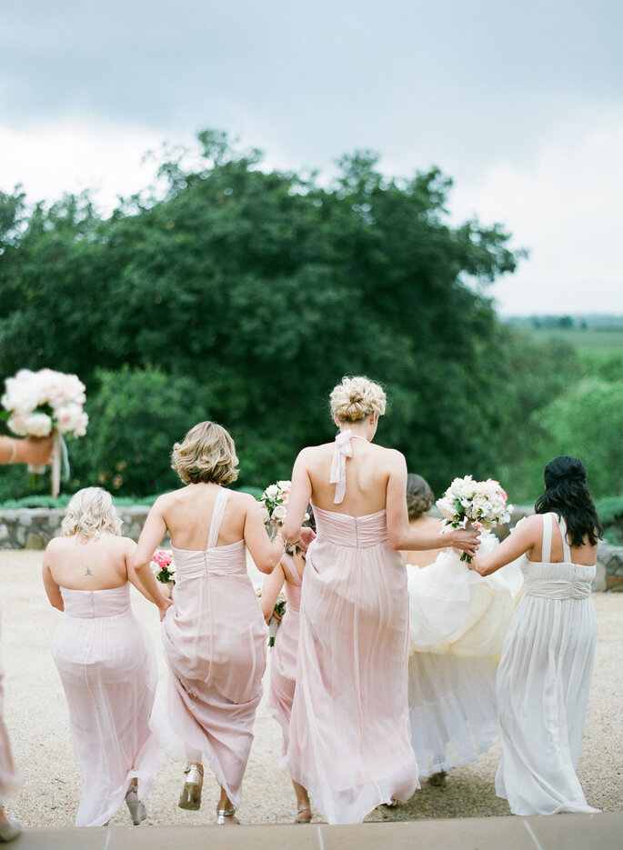 Damas de honor para la boda. Foto-KT Merry