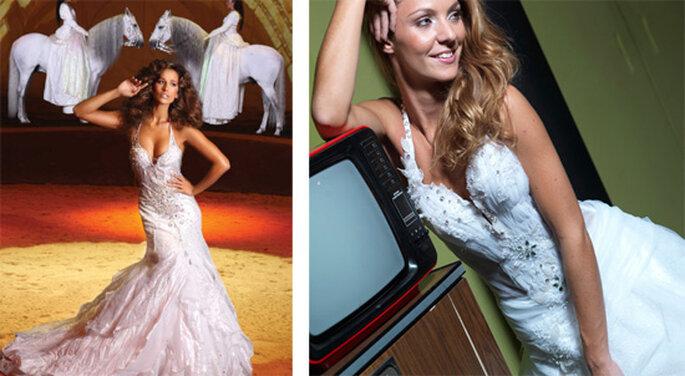 Vestidos de novia con tirantes de Micaela Oliveira